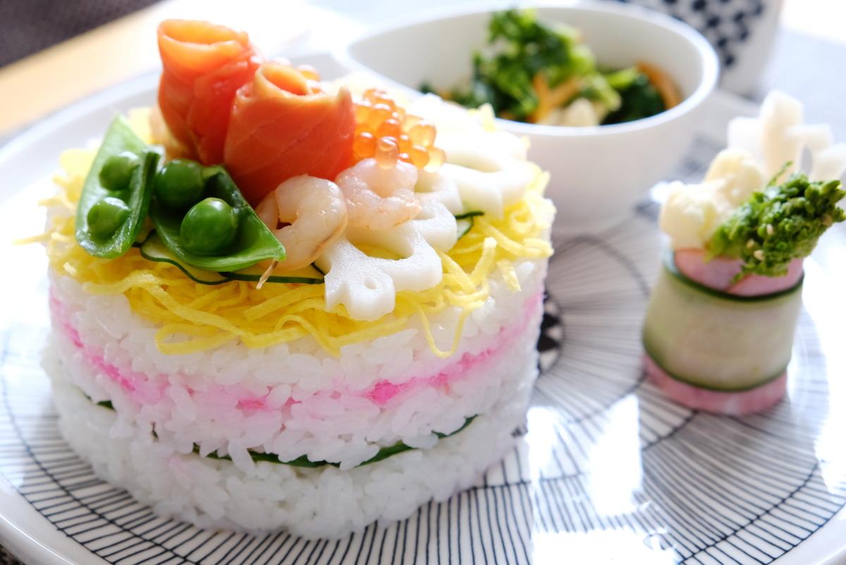 2021年3月ひな祭り・ちらし寿司ケーキ・ダイソー・セルクル型③