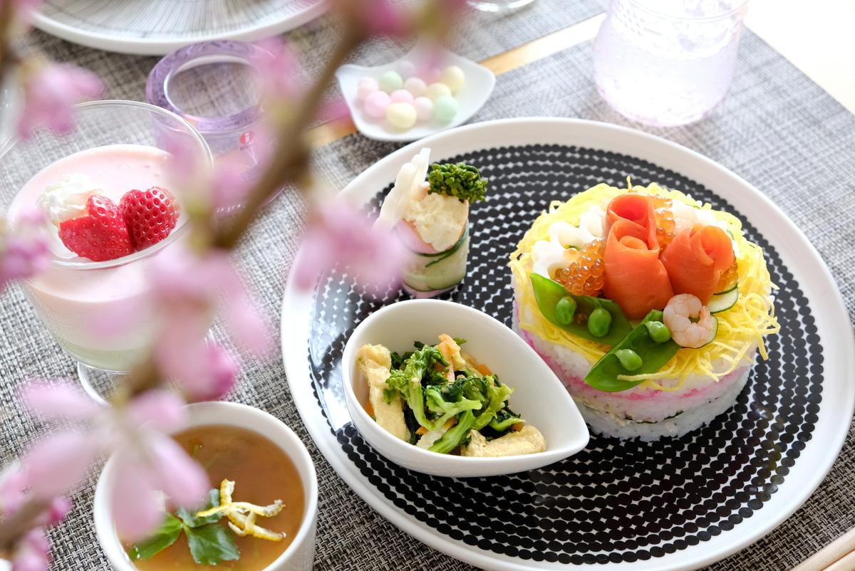 2021年3月ひな祭り・ちらし寿司ケーキ・ダイソー・セルクル型④