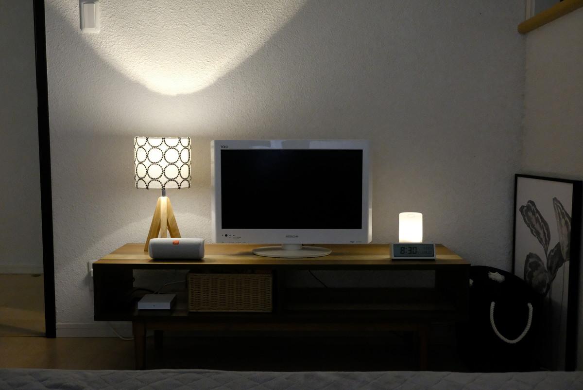 ミナペルホネン・タンバリン・テーブルライト・寝室・テレビボード④