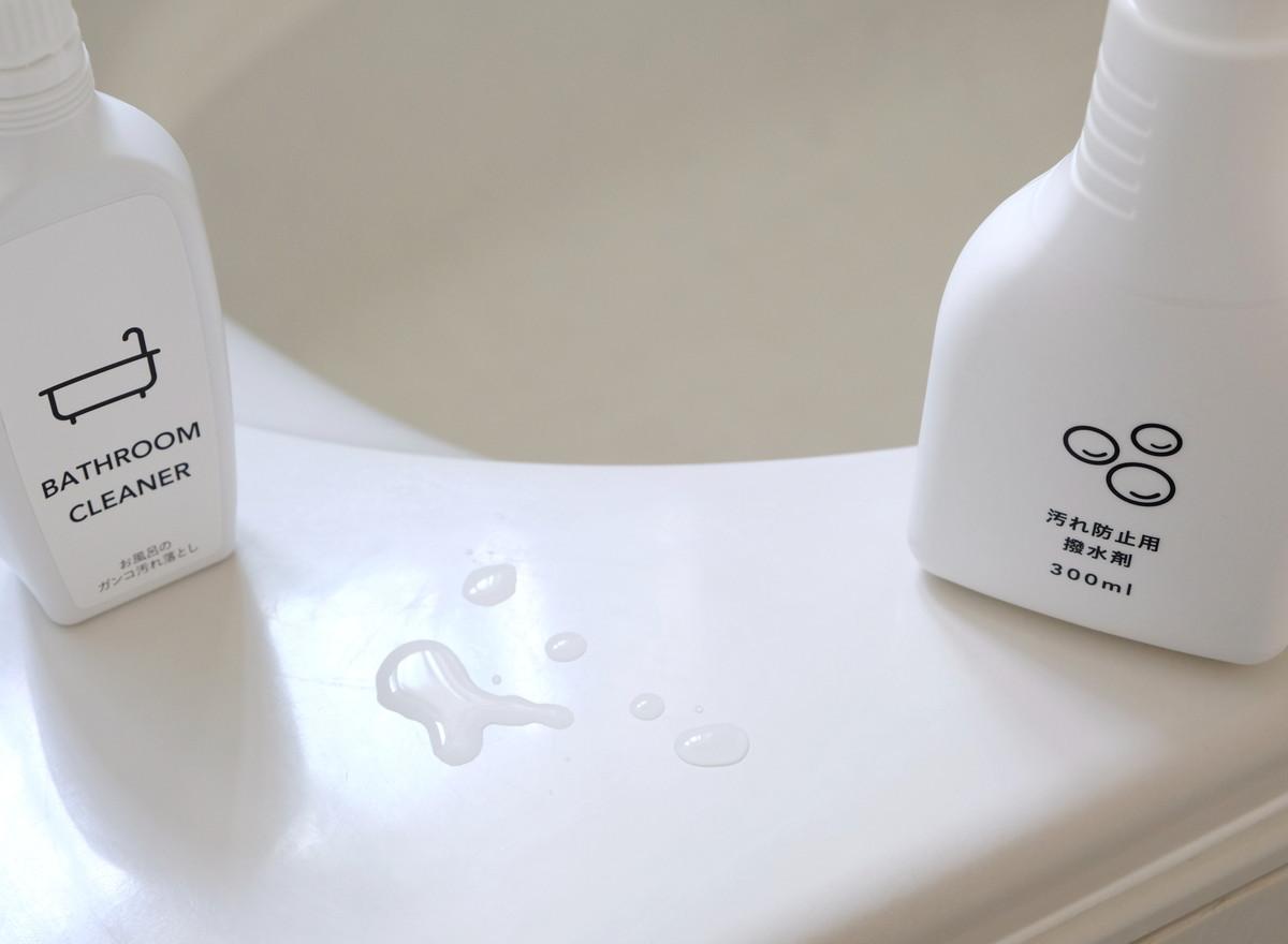 カインズ・お風呂のガンコ汚れ落とし・汚れ防止用撥水剤・浴室①