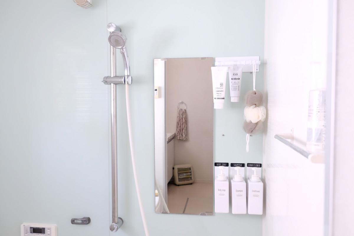 ニトリ・マグネット収納 バスブーツホルダー FLAT・浴室全体①