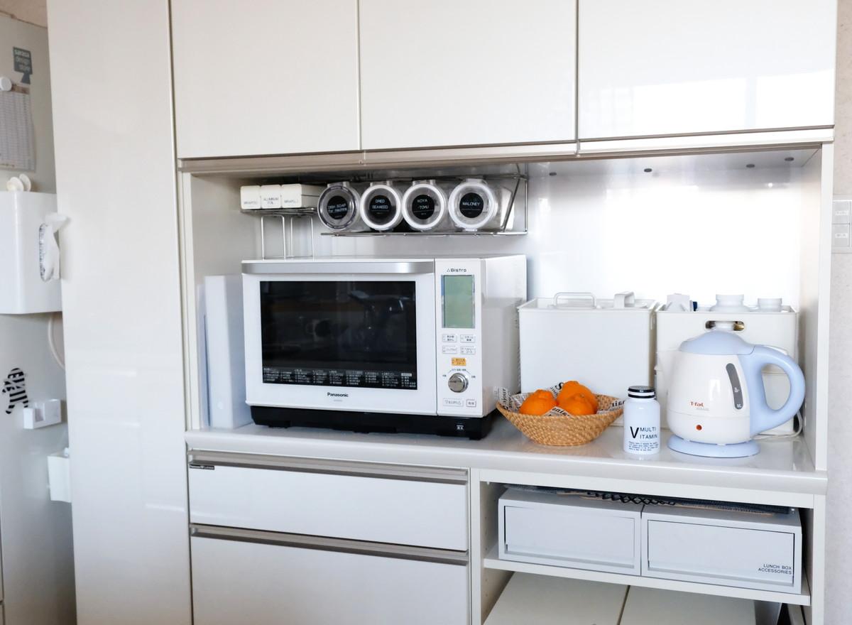 ティファール・電気ケトル・キッチン・パモウナ・食器棚①