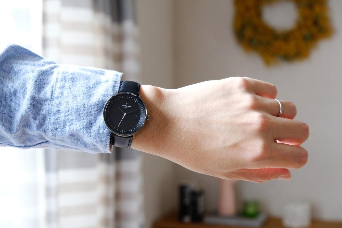Nordgreen(ノードグリーン)・Philosopher・ブラック・ガンメタル・腕時計④