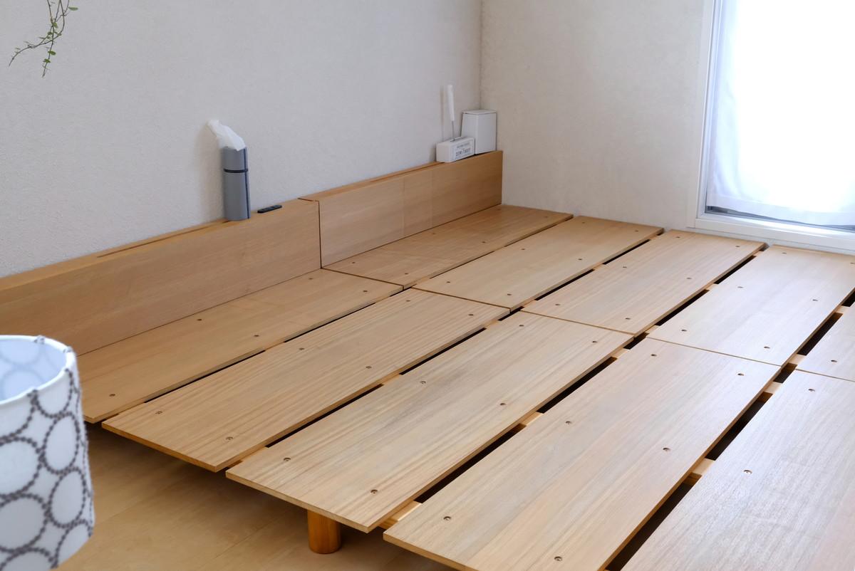 カビホワイト・ベッド・寝室全体①