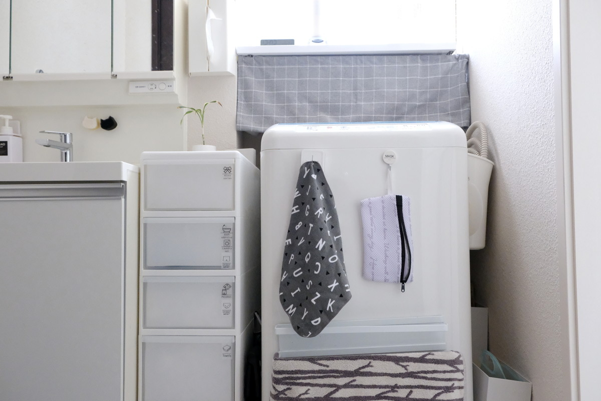 ダイソー・学童用上履き洗いネット・洗面所・洗濯機①