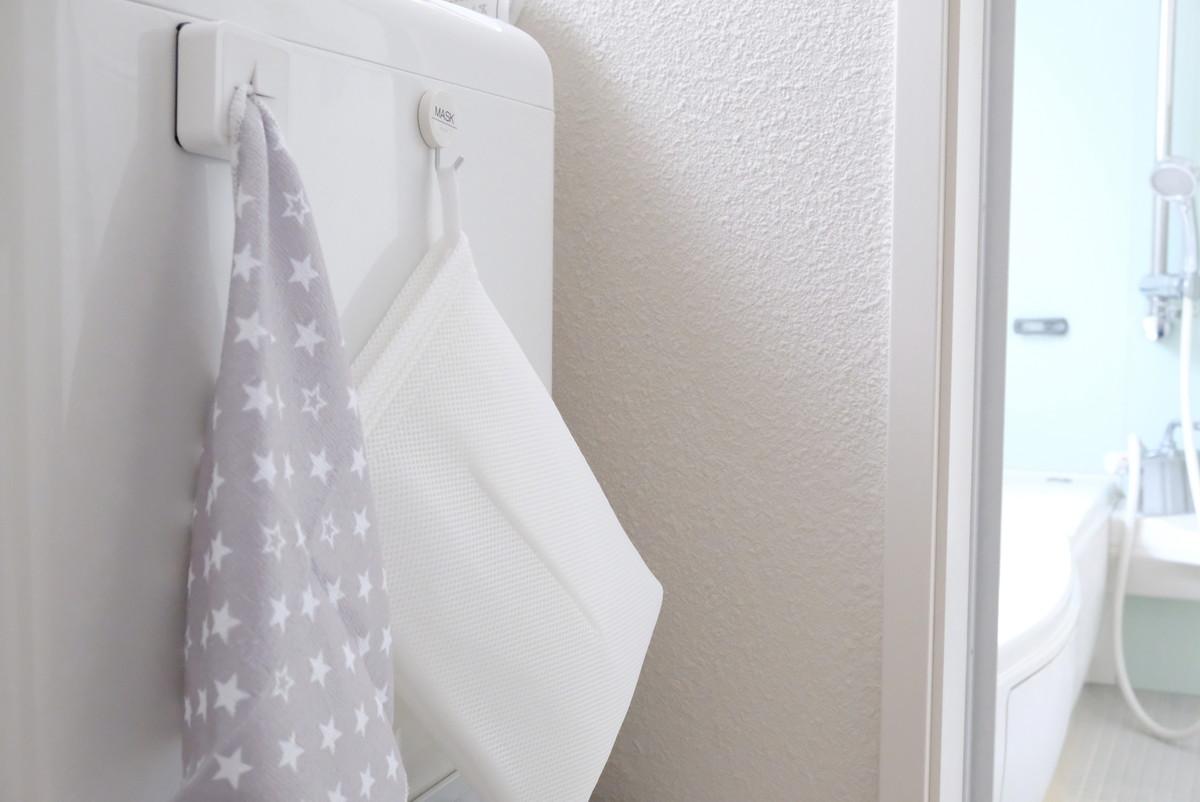 ダイソー・学童用上履き洗いネット・洗面所①
