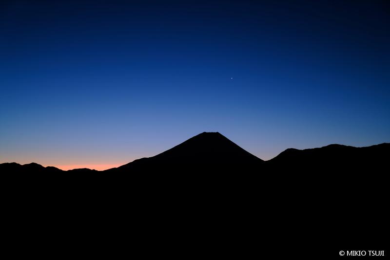 1絶景探しの旅 - 絶景写真No.1546 明けの明星 (山梨県 富士川町)
