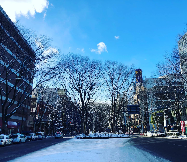 新年、仙台は強烈な寒さ。
